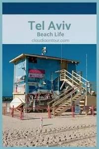 Gebäude am Strand von Tel Aviv.