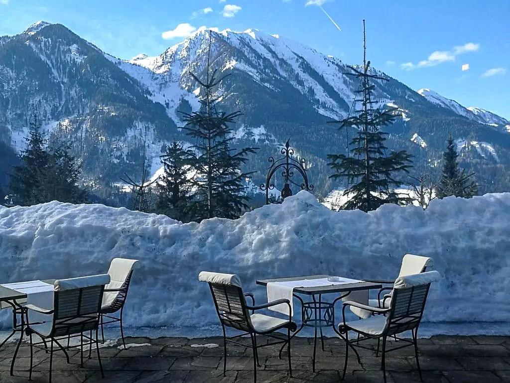 Oberforsthof Terrasse im Winter