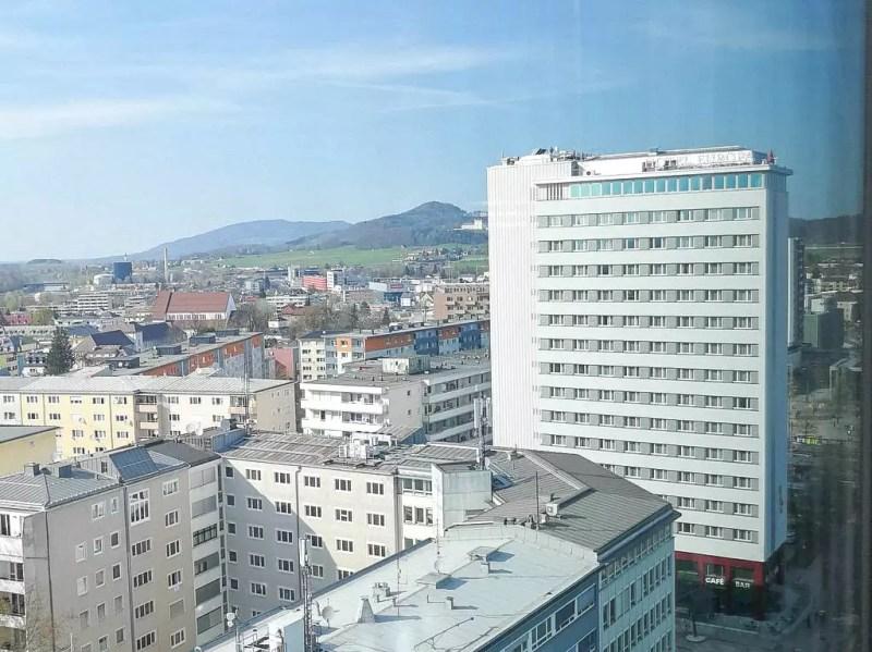 Blick auf den Norden von Salzburg