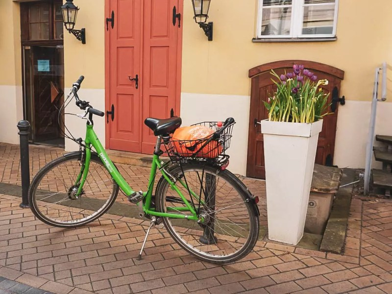 Grünes Fahrrad