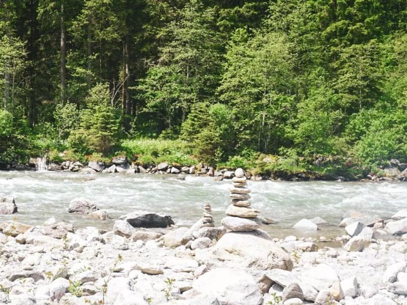 Flussbett Krimmler Ache