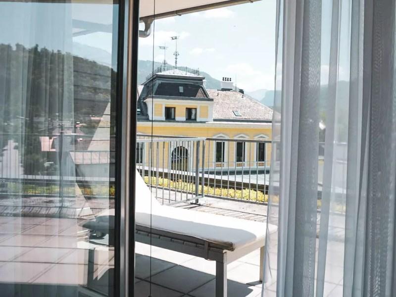 Blick auf die Rückseite der Villa Seilern