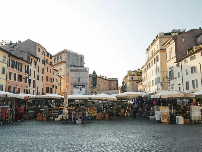 Marktstände am Campo dei Fiori