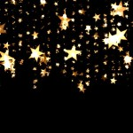 Gold stars on a black background