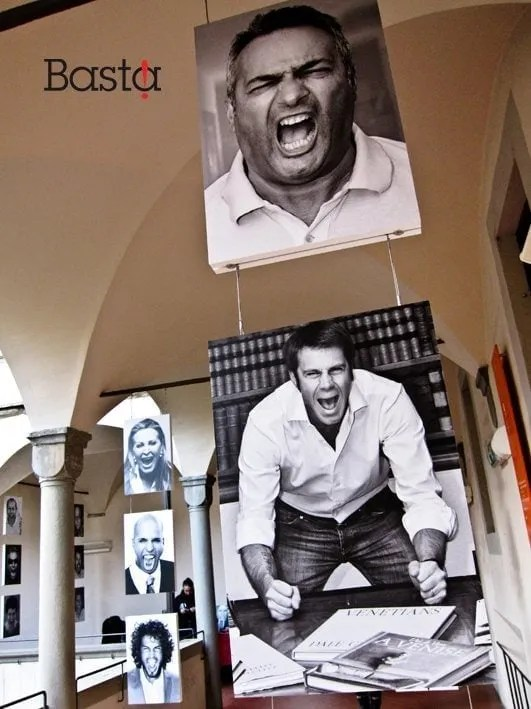 Claudio Brachino manifestazione Basta!