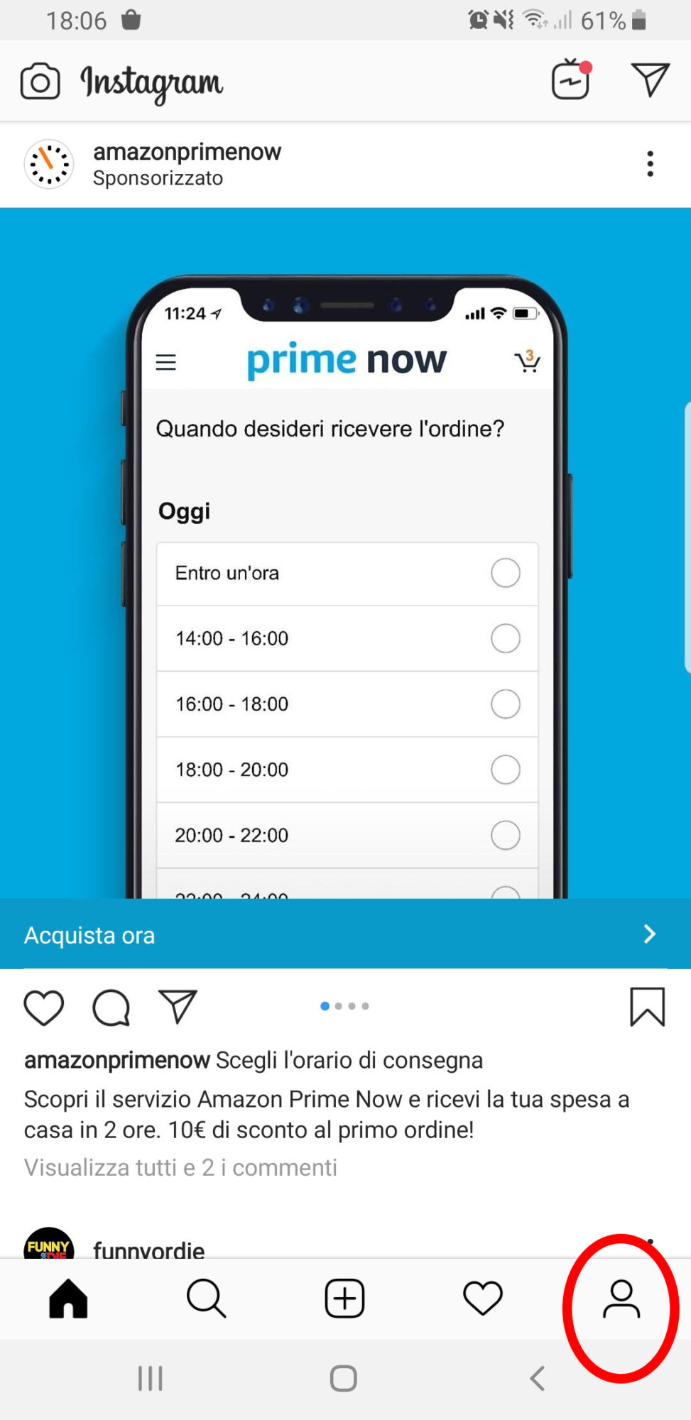 Instagram aprire profilo