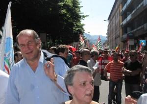Passerella Telfer Luciano Rossi allo sciopero ast del 18 Giugno