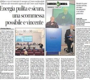 Convegno Rinnovabili corriere umbria 16 3 2014