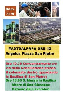 Ast dal Papa Angelus 31 Agosto 2014