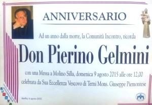 Don Pierino Gelmini primo anniversario del Dies Natalis  copertina