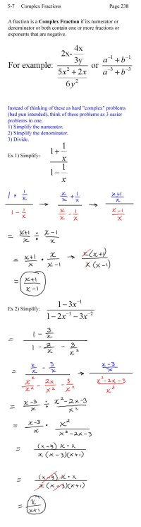 Simplifying Complex Fractions Worksheet - simplifying ...