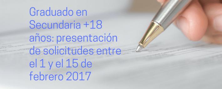 Instrucciones sobre las pruebas de Graduado en Secundaria para mayores de 18 años en Andalucía