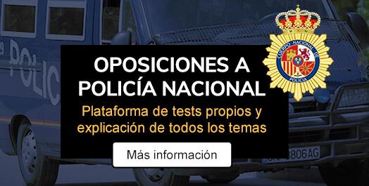 Academia de Oposiciones a Policía Nacional. Plataforma de tests propios - Claustro