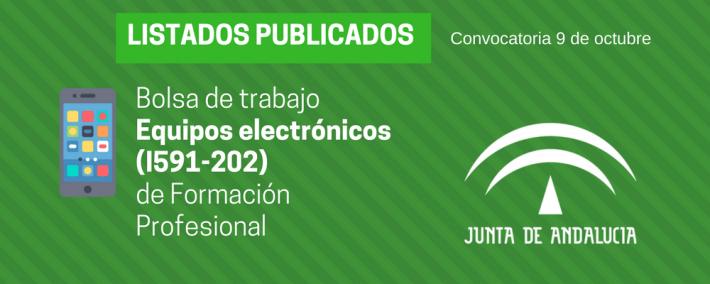 FP Equipos electrónicos (I591-202): lista admitidos bolsa de trabajo de 9 de octubre (Andalucía) - Academia CLAUSTRO