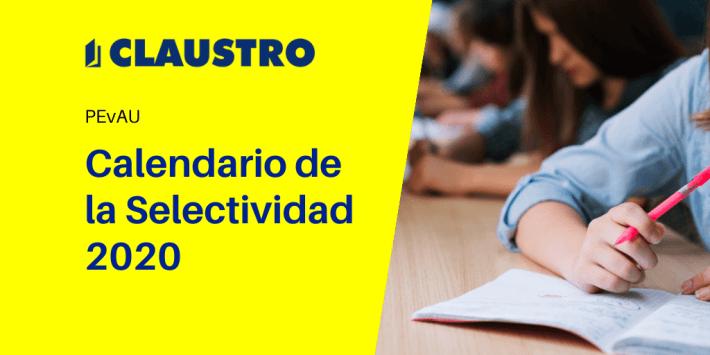 Fechas de la Selectividad 2020 en España