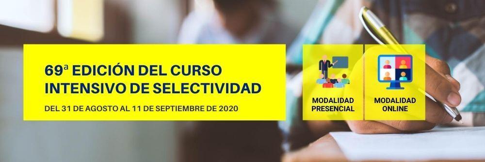 Curso intensivo para Selectividad septiembre 2020 (presencial/online) [último repaso] - Academia CLAUSTRO