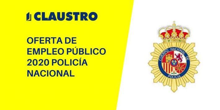 Aprobada la oferta de Empleo Público 2020 para el Cuerpo Nacional de Policía