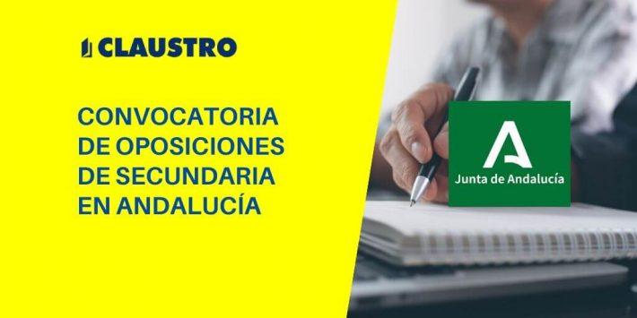 Andalucía: Publicada convocatoria de oposiciones de Secundaria, FP y enseñanzas artísticas y de idiomas