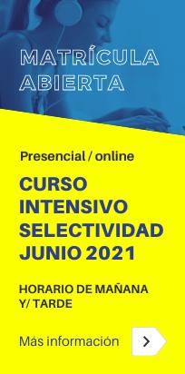 Curso intensivo PEvAU (Selectividad) en junio [presencial/online] - Academia CLAUSTRO