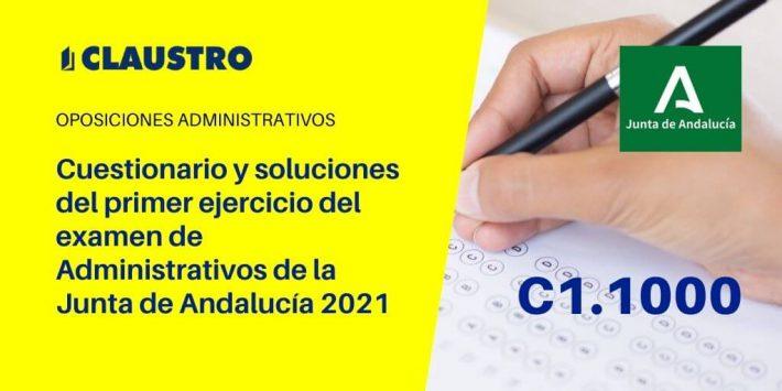 Cuestionario y soluciones del primer ejercicio del examen de Administrativos de la Junta de Andalucía 2021