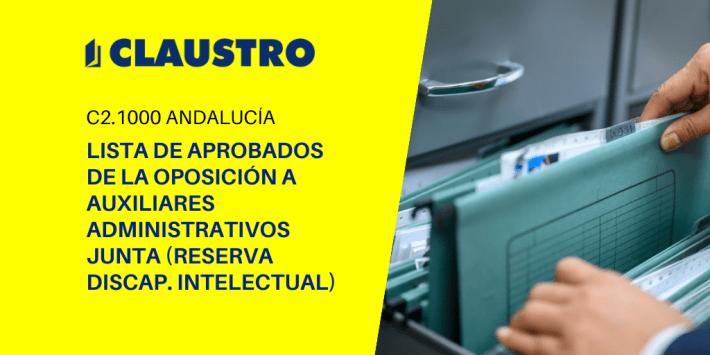 Aprobados en las oposiciones a Auxiliares Administrativos (reserva discapacidad intelectual) de Andalucía