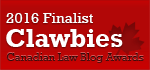 2016 Canadian Law Blog Finalist
