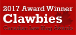2017 Canadian Law Blog Awards Winner