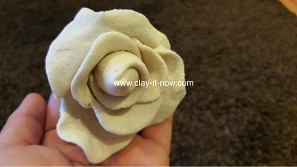 Salt Dough Rose Simple Flower without Mold and No Bake