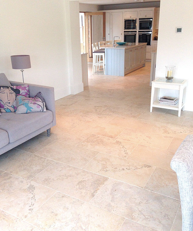 Living Area Tiled Floor
