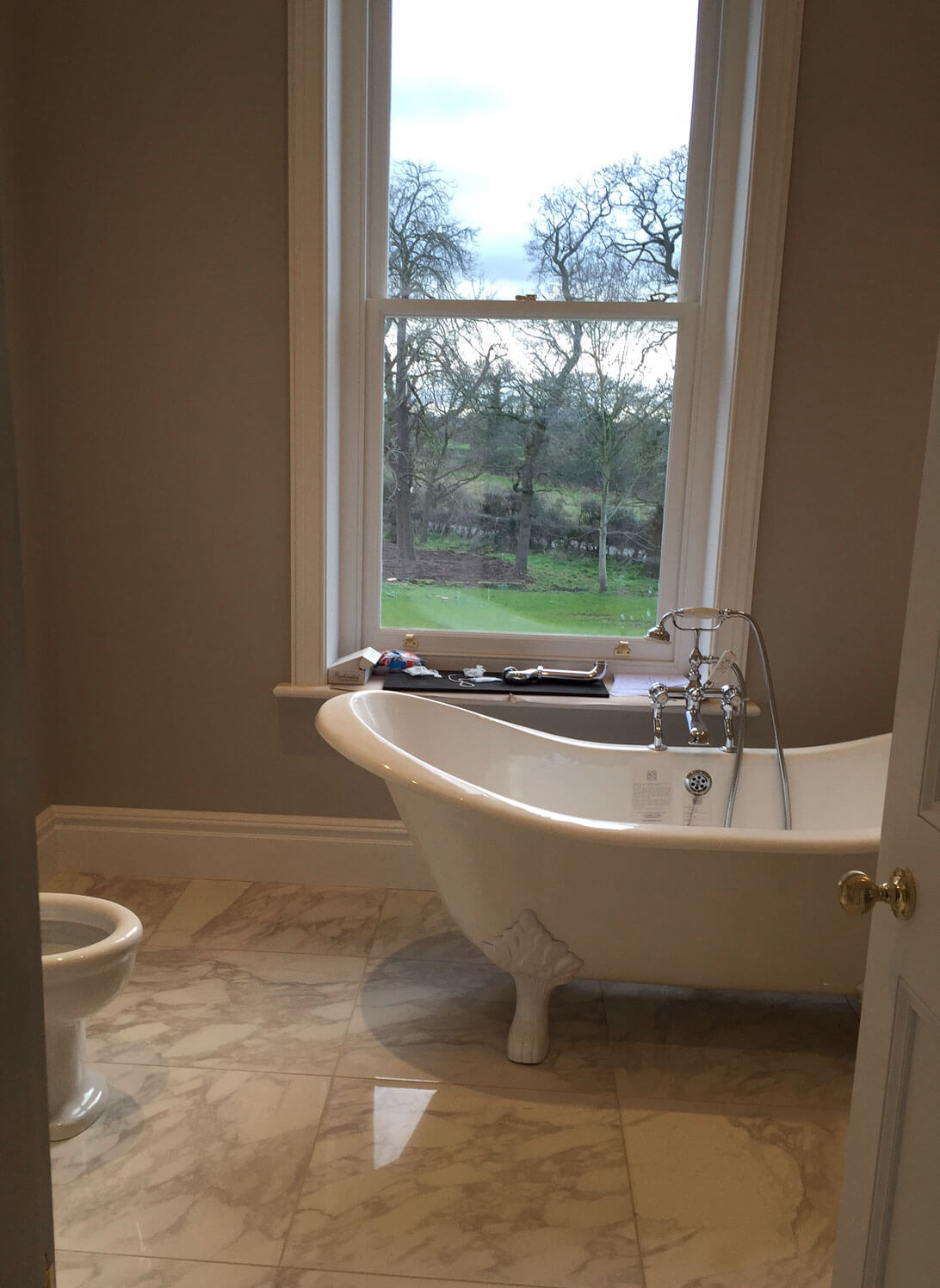 Bathroom Tiles & Rool Top Bath Cheshire