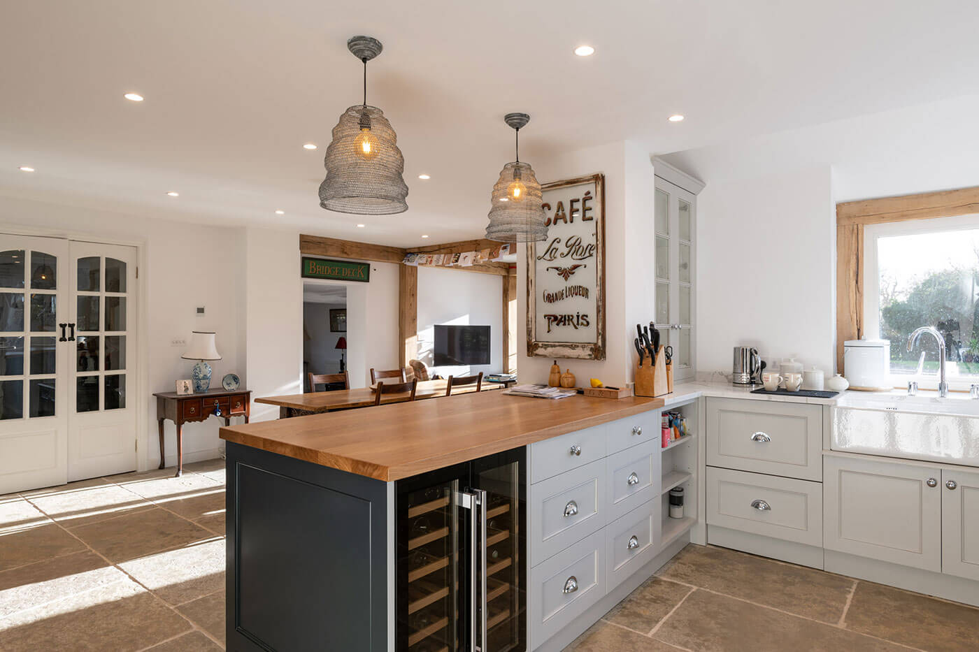 Limestone kitchen flooring