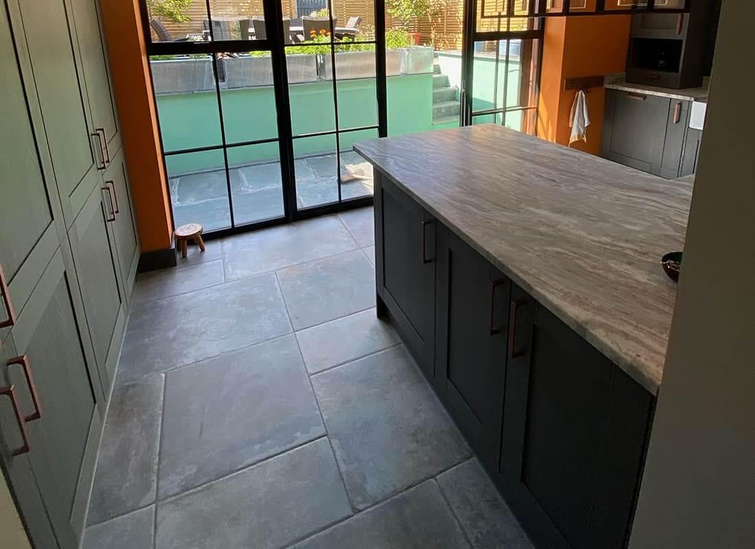 Porcelain kitchen flooring Cornwall