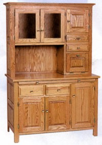 "Solid Oak 48"" Hoosier Cabinet - by Claybornes Amish ..."