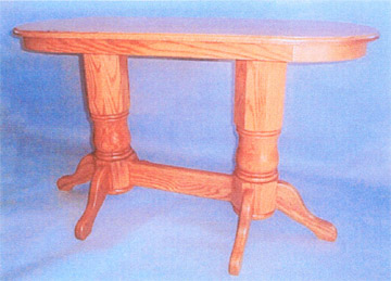 amish built sofa tables brown leather sale double pedestal solid oak table by clayborne s furniture