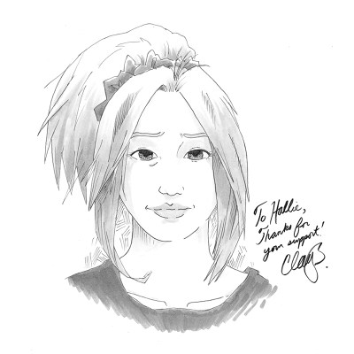 December 2015 sketch, of depressed character #2 (also known as Robin) (depression comix), won by Halle