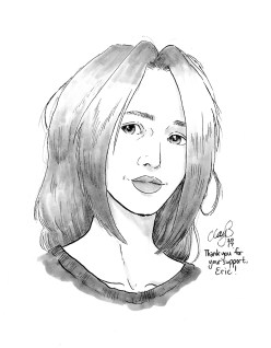 April 2017 sketch of depressed character #2 (Robin) won by Eric.