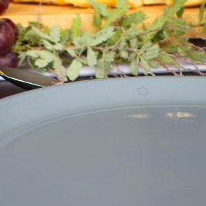 Ontbijtbord Clayish blauwgrijs