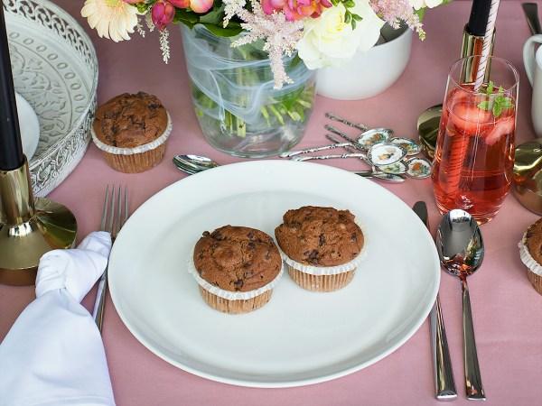 muffins porseleinen bord