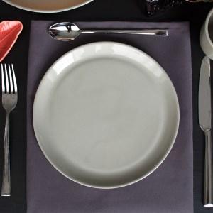 porselein ontbijtbord grijsbruin