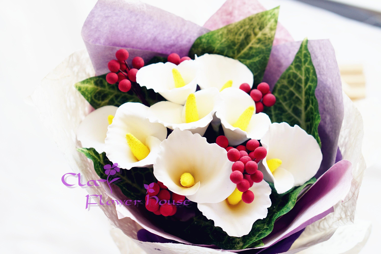 Clay flower bouquet izmirmasajfo
