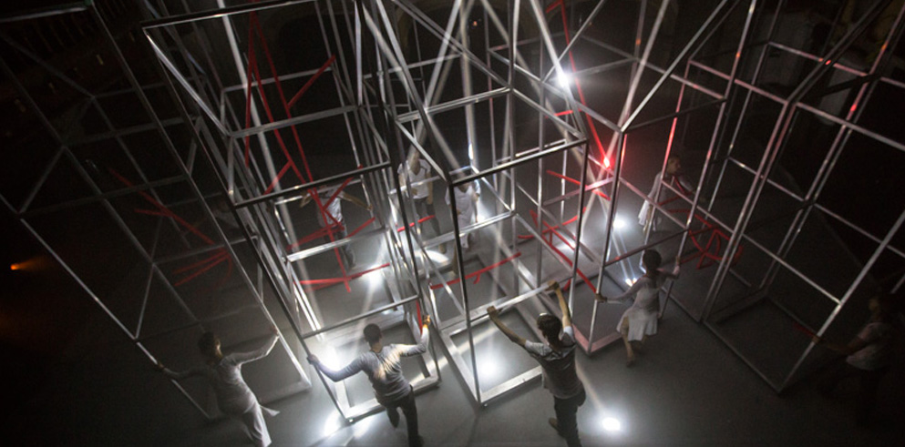 Clay Paky  Clay Paky Sharpys Create Light Architecture for London Art Show