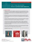 Top 10 Reasons to buy a Clayton Steam Generator: Reduced Blowdown