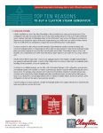 Top 10 Reasons to buy a Clayton Steam Generator: PackagedSystems