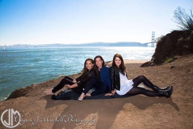 Family Photo with Mom and Teens Sausalito California