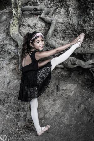 ballerina in nature