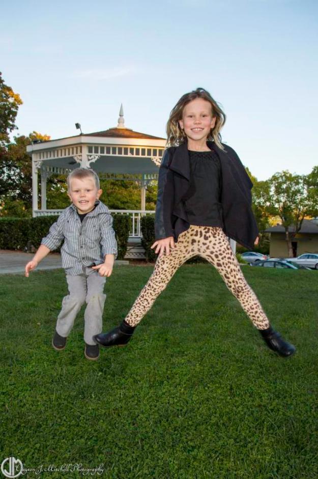 kids jumping at the park
