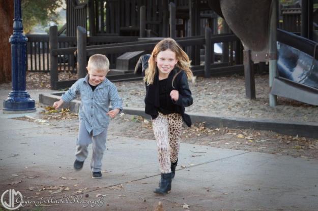 kids running at the playground