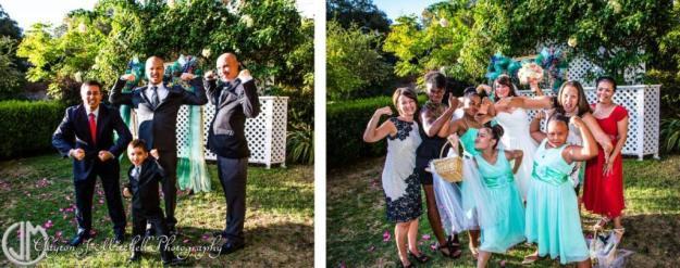 silly wedding party photos