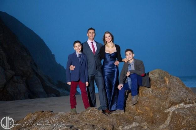 elegant outdoor family portrait