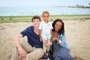 Family of three at Crab Cove Alameda